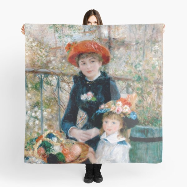 The Two Sisters of Auguste Renoir Scarf