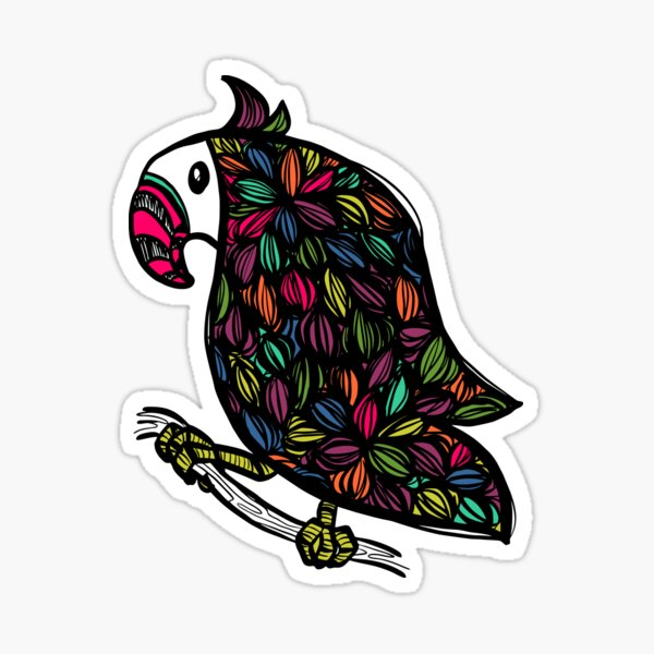 Tangle Toucan Sticker