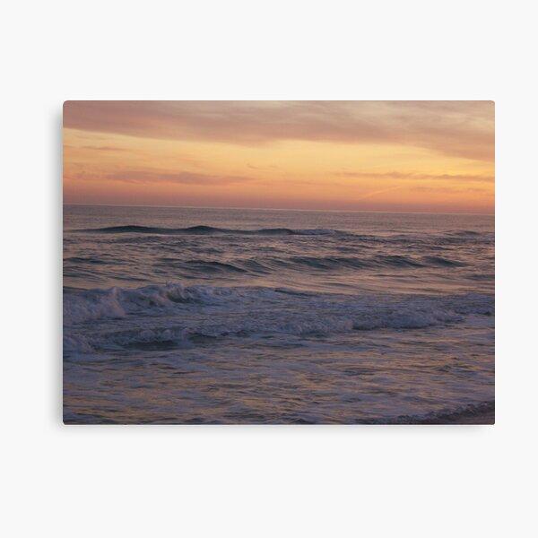 Orange Beach Sunset 2 Canvas Print