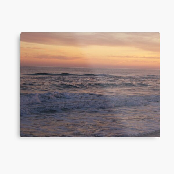 Orange Beach Sunset 2 Metal Print