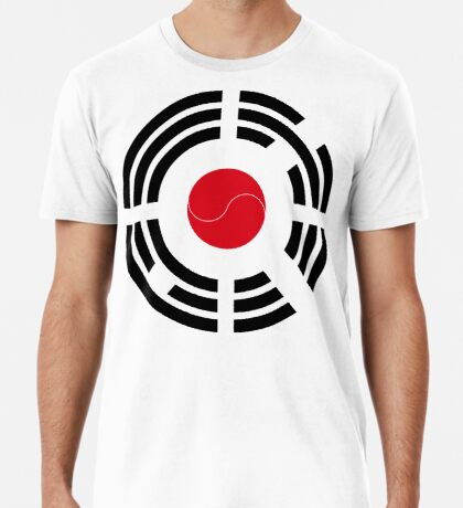 Korean Japanese Multinational Patriot Flag Series Premium T-Shirt