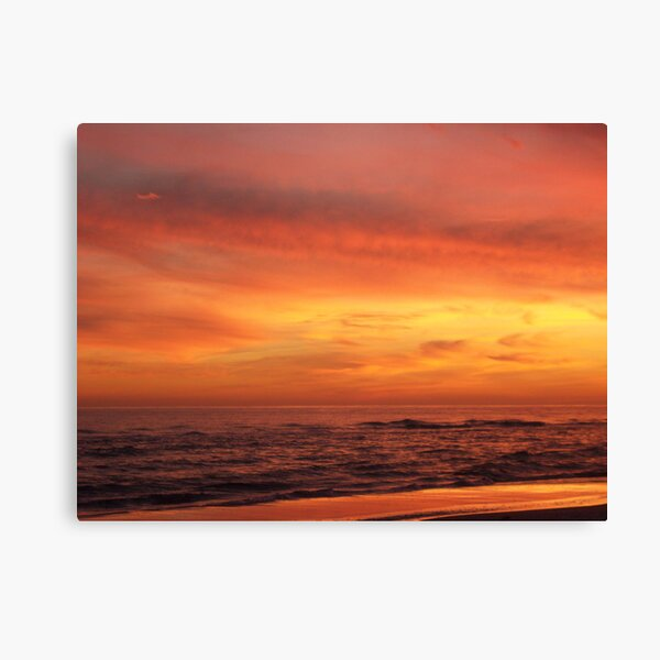 Orange Beach Sunset 4 Canvas Print