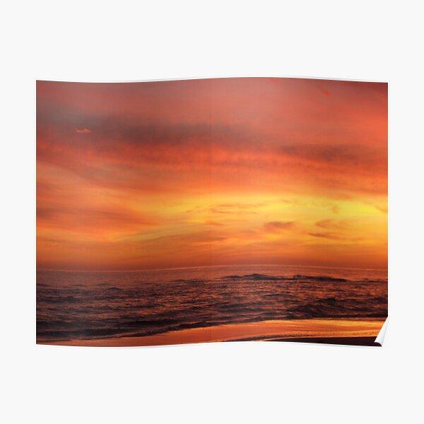 Orange Beach Sunset 4 Poster