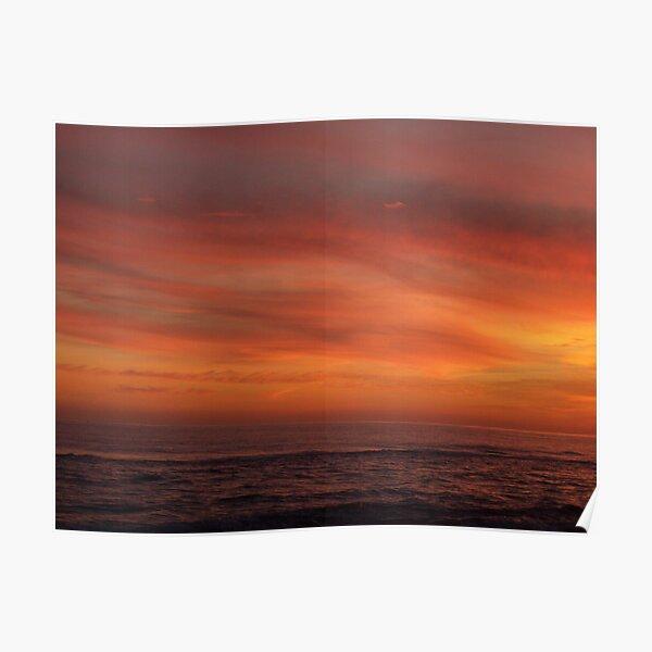 Orange Beach Sunset 6 Poster