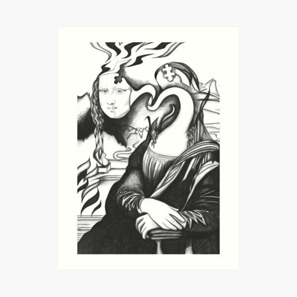 Mona Lisa 68 Art Print
