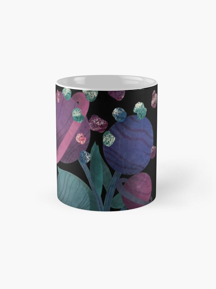 Alternate view of Space Flowers Mugs