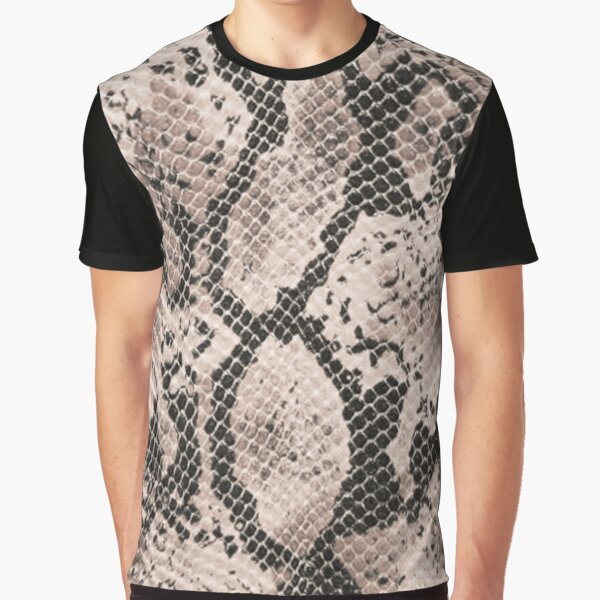 Snake skin,leather,texture background print. Graphic T-Shirt
