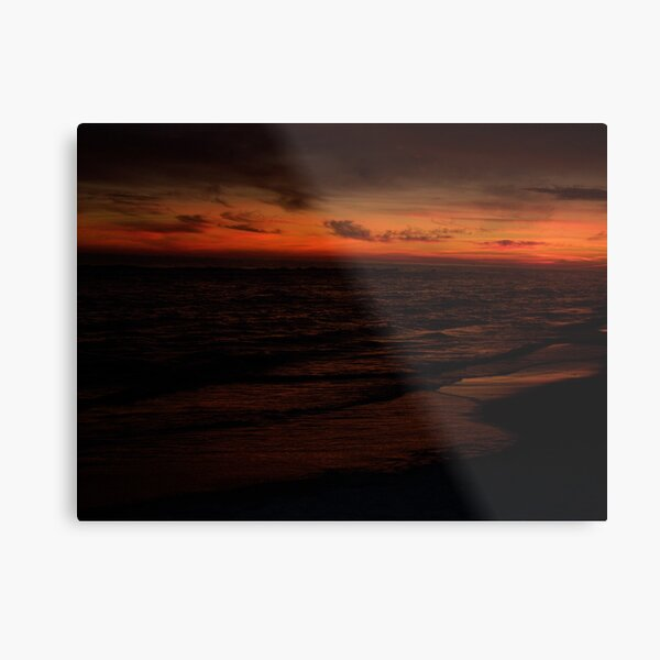 Orange Beach Sunset 7 Metal Print