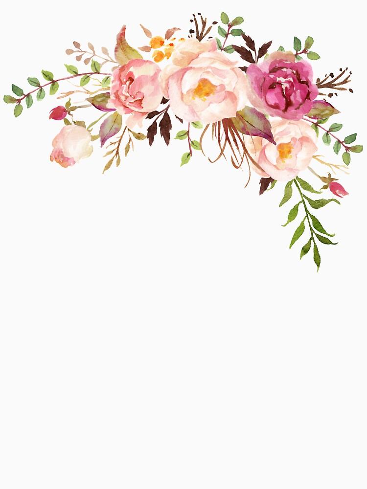 Romantischer Aquarell-Blumen-Blumenstrauß von junkydotcom