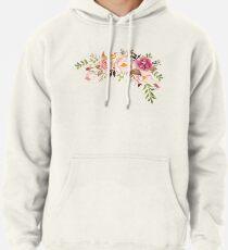 Sudadera con capucha Romántico ramo de flores de acuarela