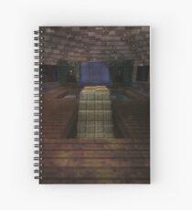 MINECRAFT HOUSE FOUNTAIN Spiral Notebook