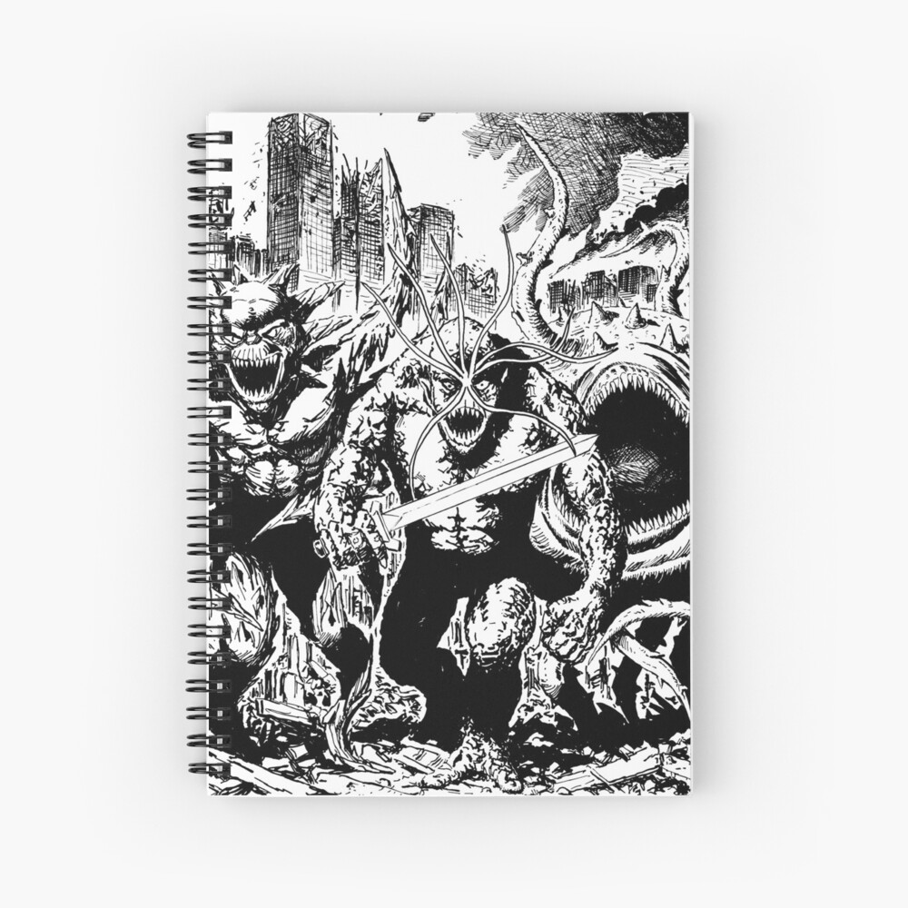 Boss Fight The Brooding Muse  Spiral Notebook