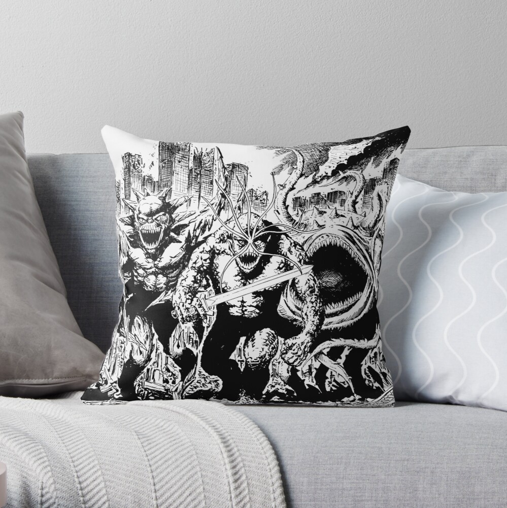 Boss Fight The Brooding Muse  Throw Pillow