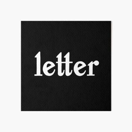 handlettered letter Art Board Print