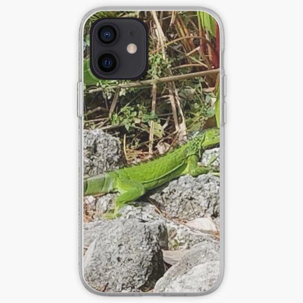 Iguana on rocks iPhone Soft Case