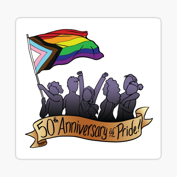 50th Anniversary of Pride Sticker