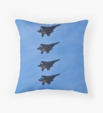 F-15 Strike Eagle squadron Throw Pillow