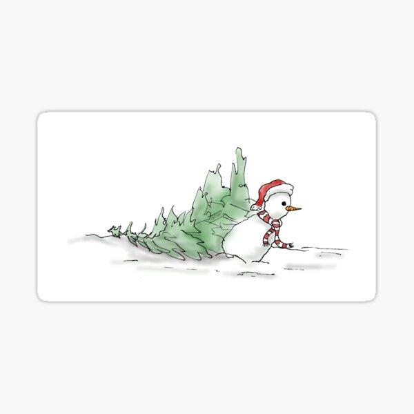 Snowman and Tree Sticker