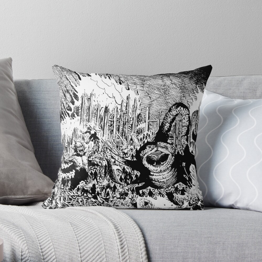 So Outta Luck The Brooding Muse Throw Pillow