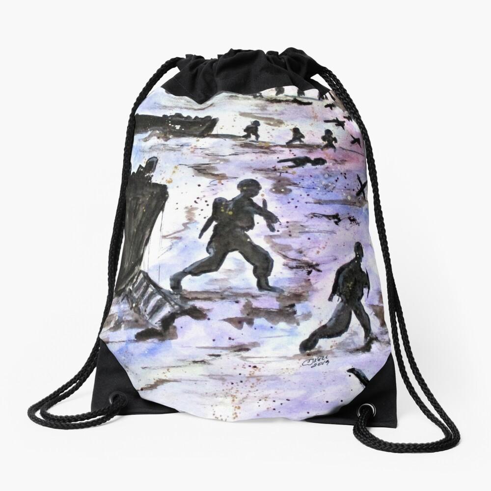 Stepping In Harms Way Drawstring Bag