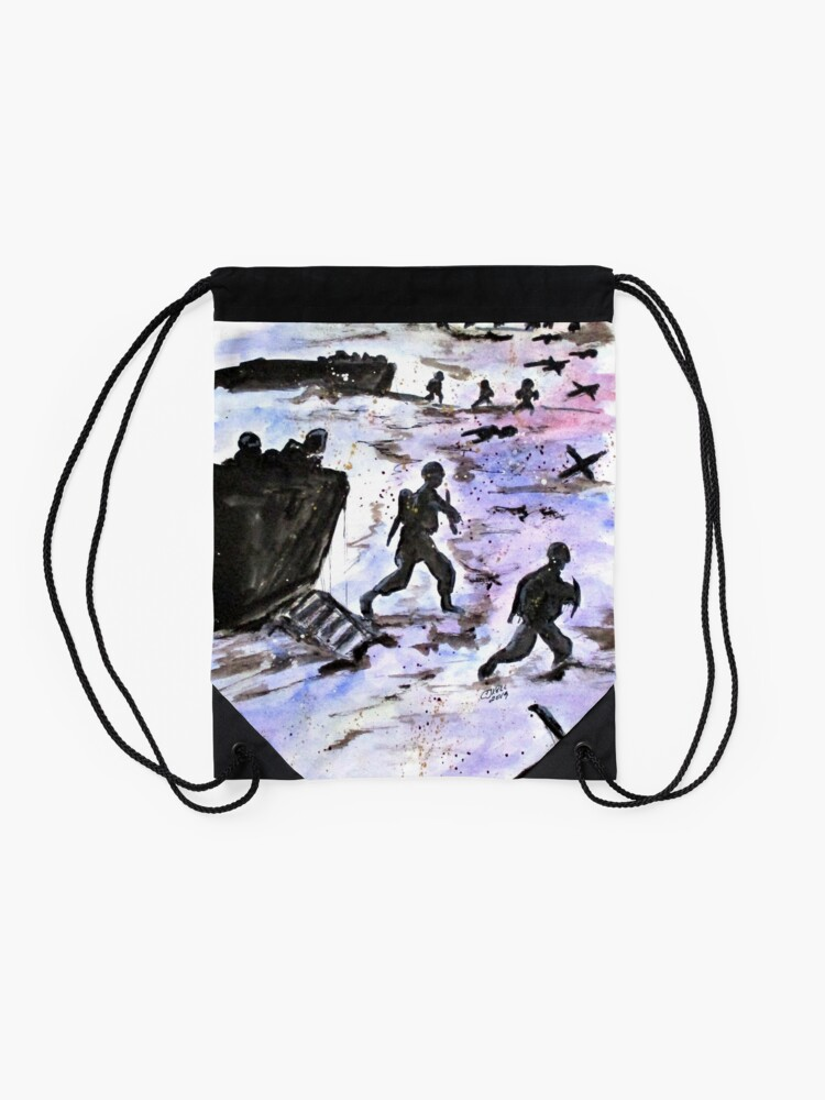 Alternate view of Stepping In Harms Way Drawstring Bag