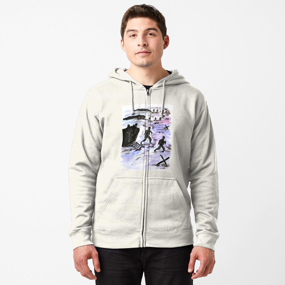 Stepping In Harms Way Zipped Hoodie