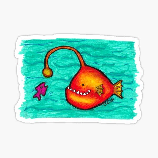 Happy Angler Fish Sticker