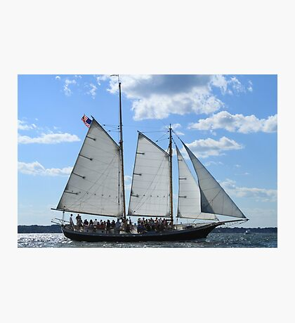 Vintage sailing ship near Newport RI photography Photographic Print