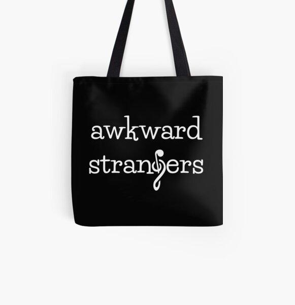 Awkward Strangers Logo All Over Print Tote Bag