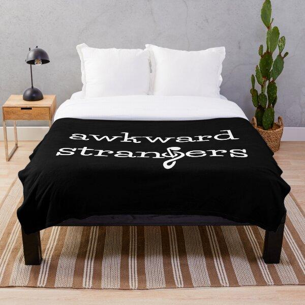Awkward Strangers Logo Throw Blanket