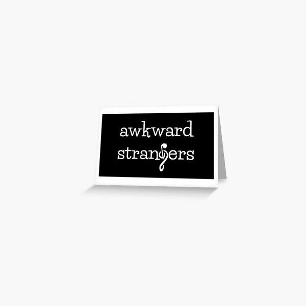 Awkward Strangers Logo Greeting Card