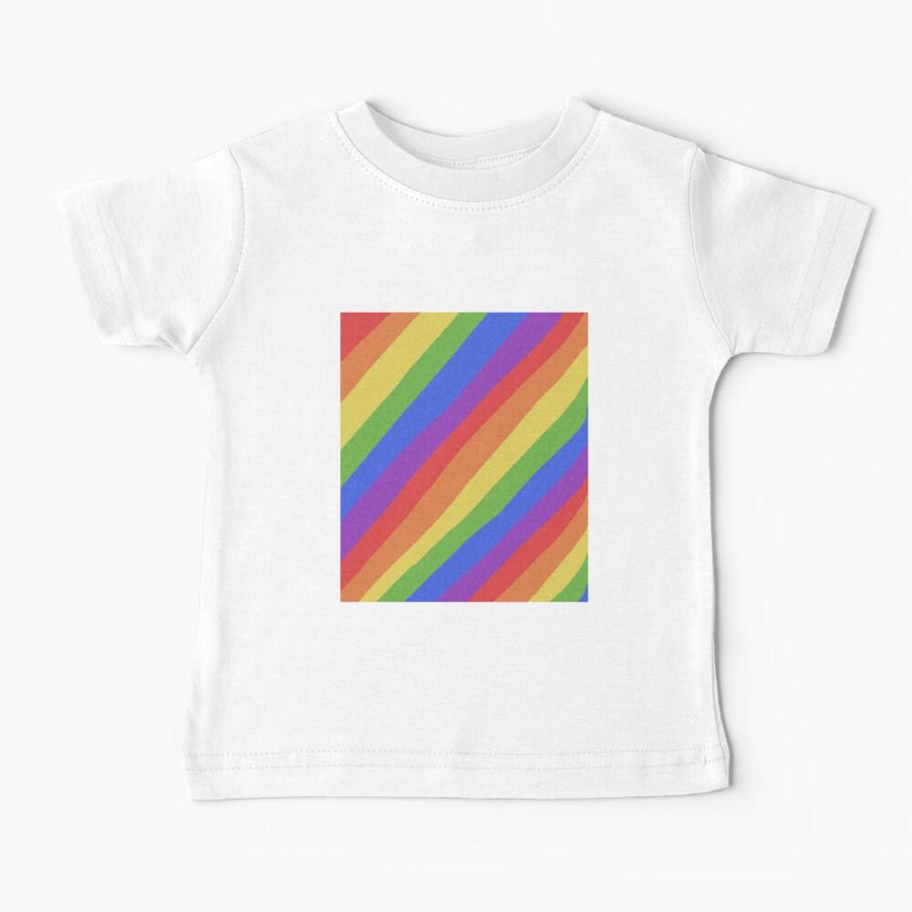 Pride Month - Rainbow and Bright - International World Pride Gift - LGBT - LGBTQ - LGBTQIA Baby T-Shirt