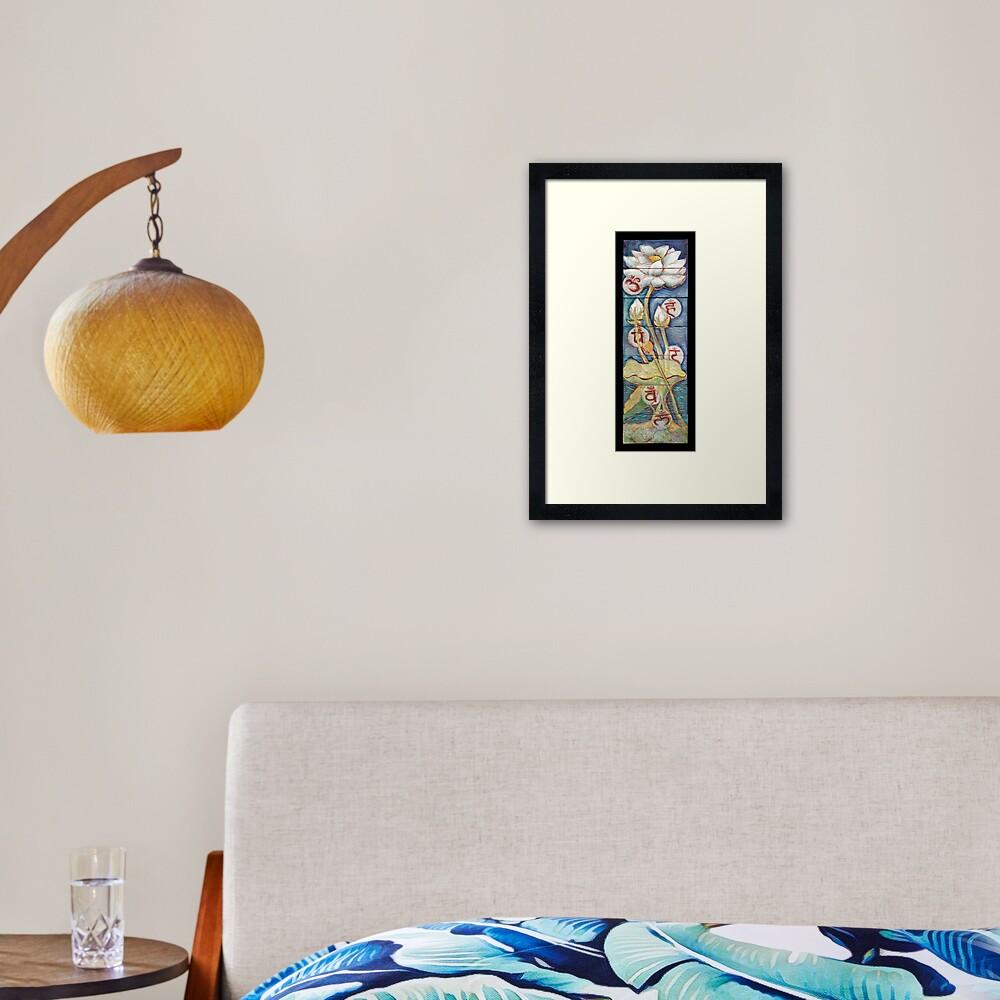 Lotusing Vibrance Framed Art Print