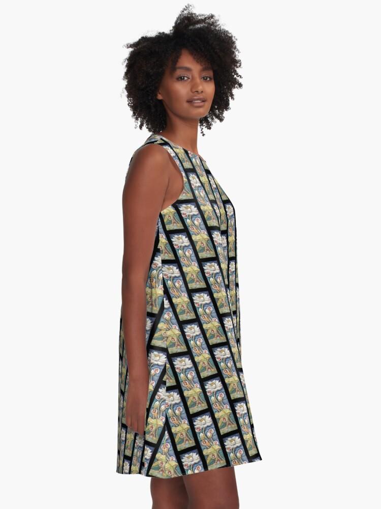 Alternate view of Lotusing Vibrance A-Line Dress