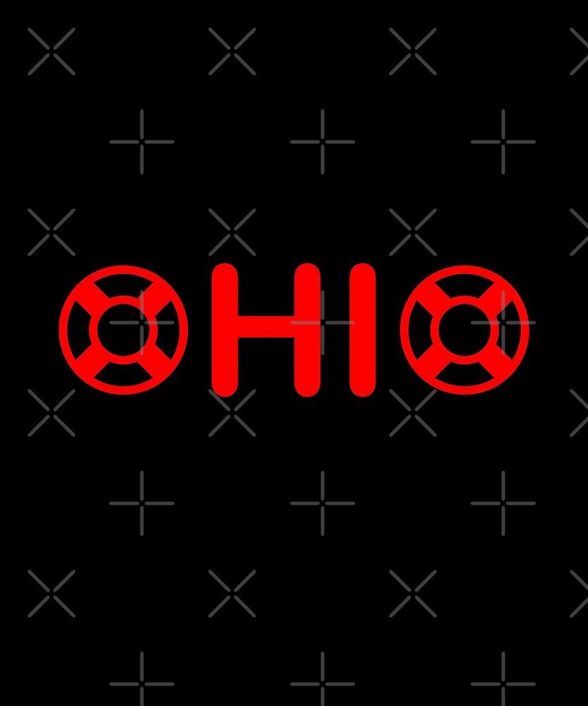 Ohio with Lifesavers Monotone by TinyStarAmerica
