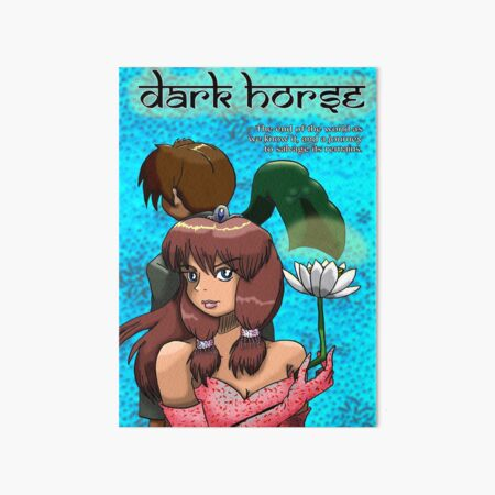 Dark Horse/Broken Wing with Text Art Board Print