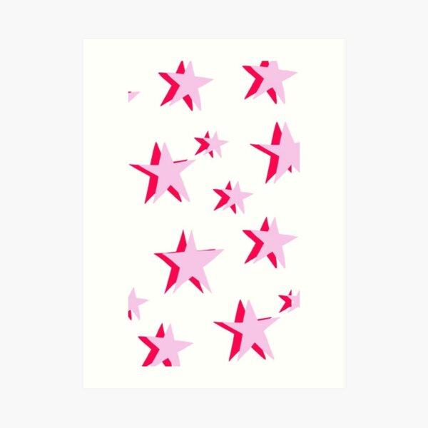 pink stars Art Print