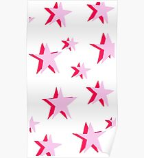 pink stars Poster
