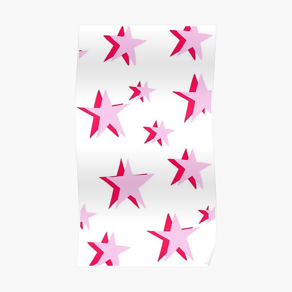 pink stars Poster