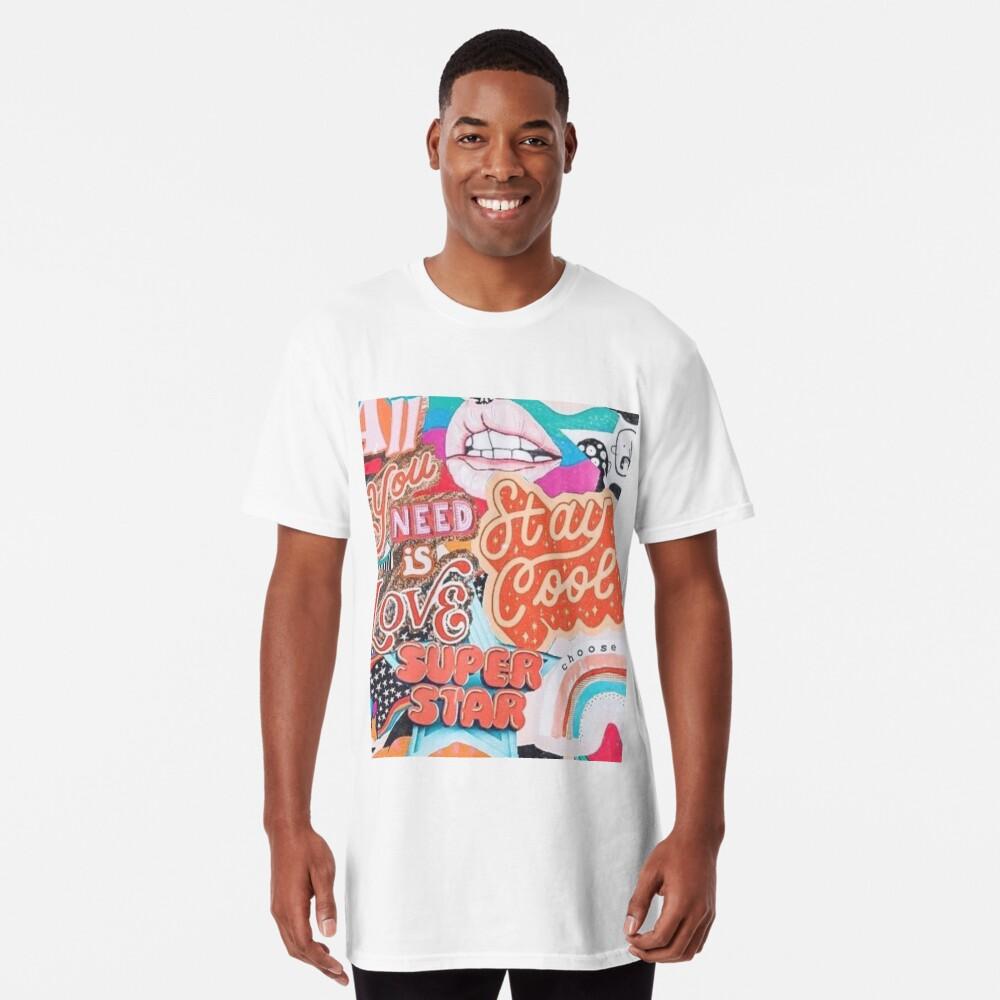 vsco collage Long T-Shirt