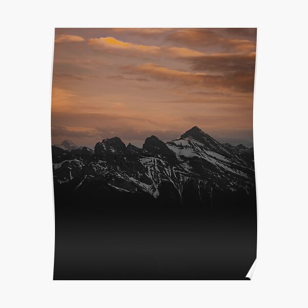 Three Sisters Sunset Poster