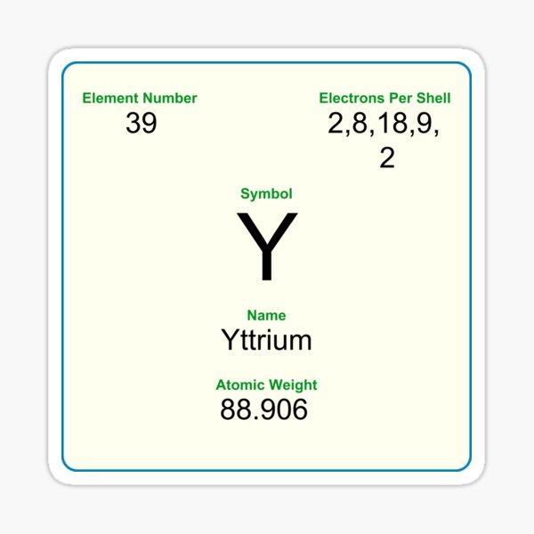 39 Yttrium Sticker