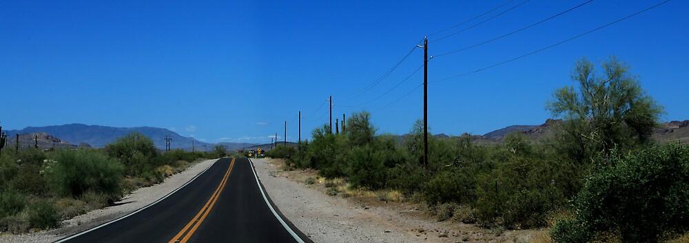 Scottsdale Desert road by amybrookman