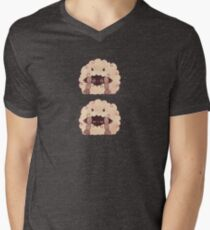 Sleepy Wooloo [B] V-Neck T-Shirt