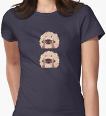 Sleepy Wooloo [B] Fitted T-Shirt