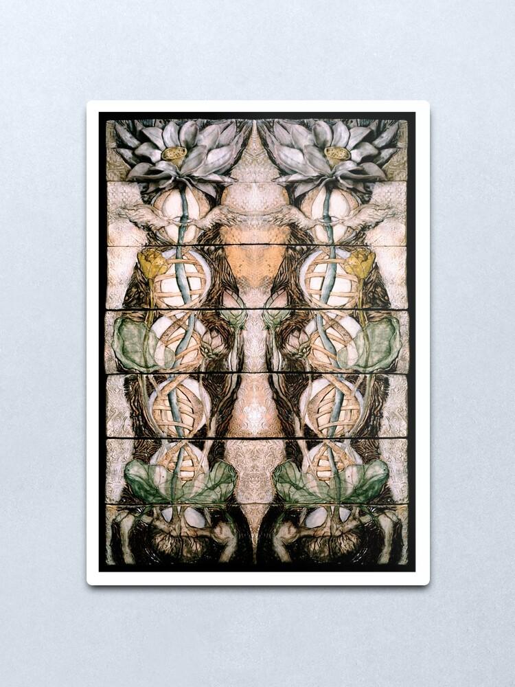 Alternate view of Double Helix Lotusing  Metal Print
