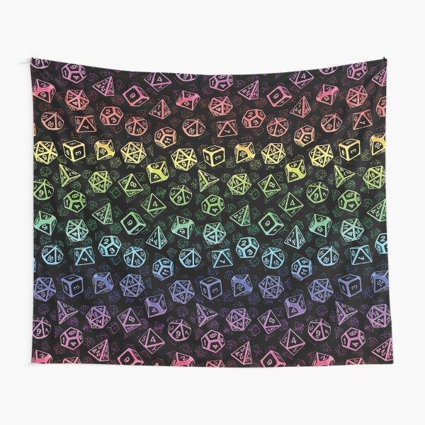 D20 Dice Set Pattern (Rainbow) Tapestry