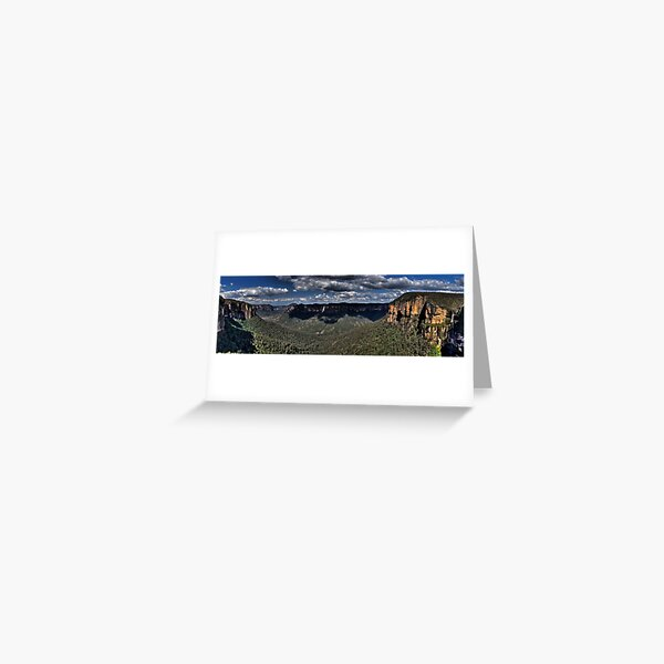 Govetts Leap Lookout | Grose Valley | Blue Mountains Australia Greeting Card