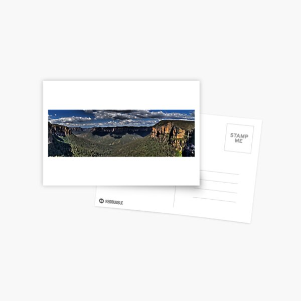 Govetts Leap Lookout | Grose Valley | Blue Mountains Australia Postcard