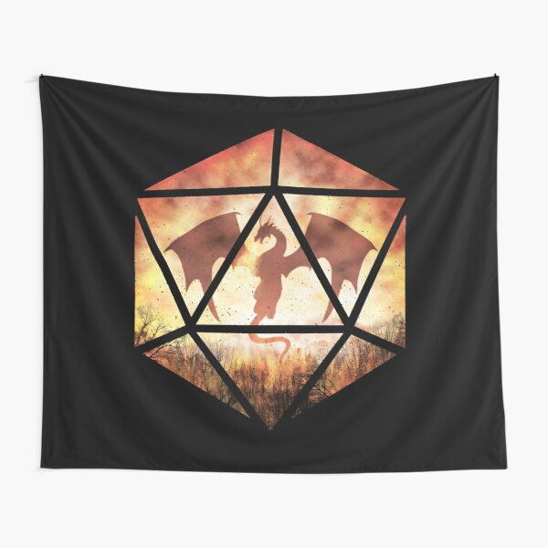 Fire Dragon D20 Tapestry